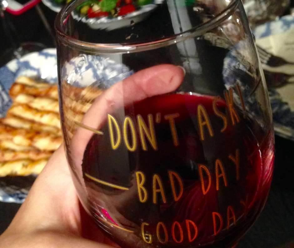 loš dan, dobar dan, raspoloženje, vino, čaša
