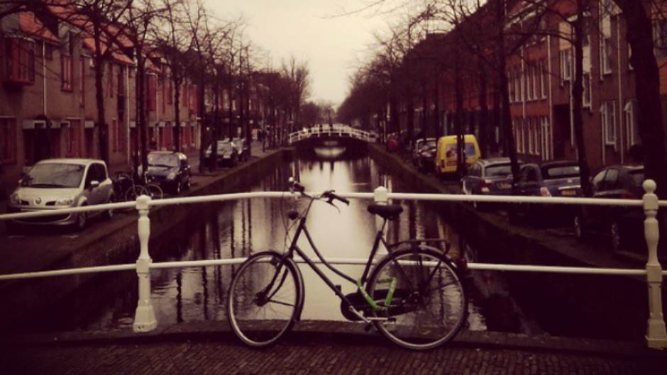 delft, holandija, bicikl