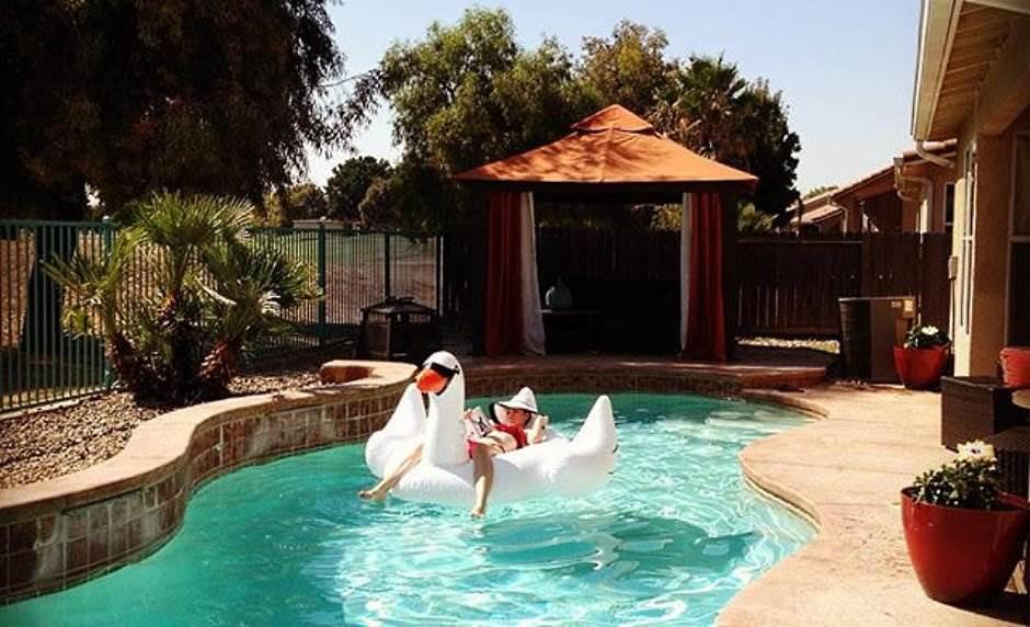 bazen, uživanje, opuštanje