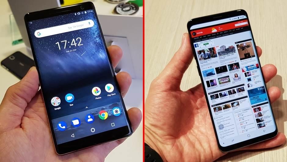 S9, Nokia 8 Sirocco, Galaxy S9+