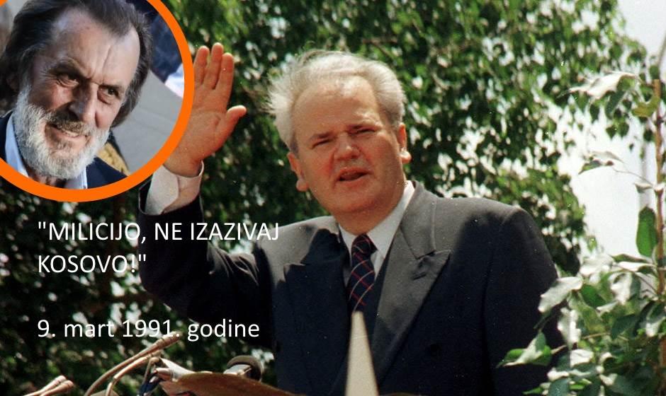 Milošević Drašković, 9. mart, deveti mart, devetomartovske demonstracije