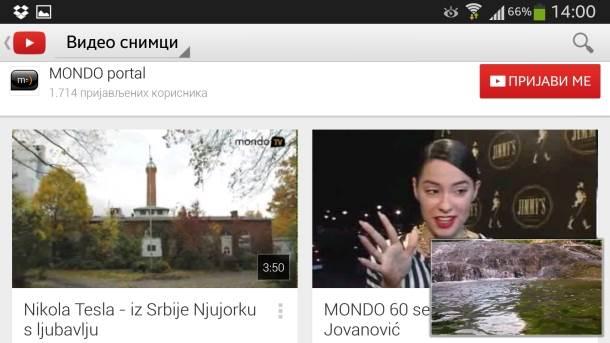 YouTube slika u slici