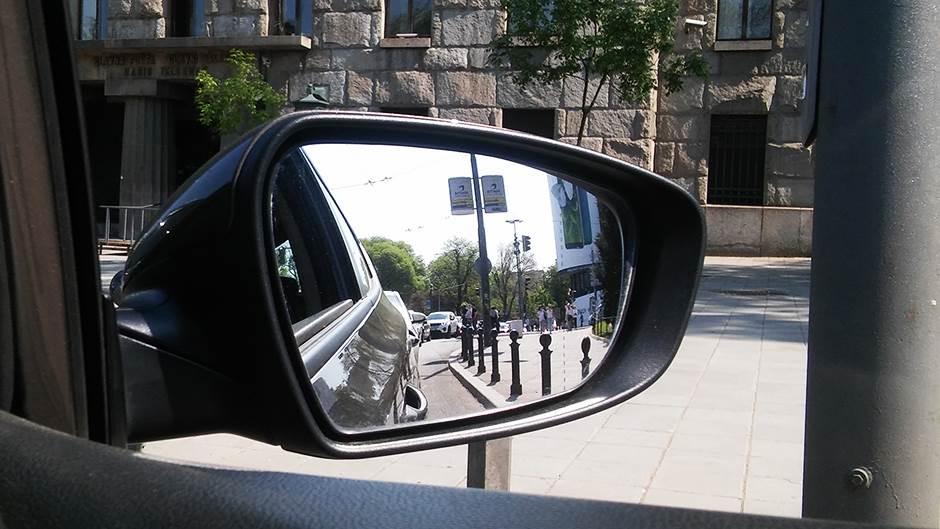 retrovizor, vožnja, suvozač, ulica