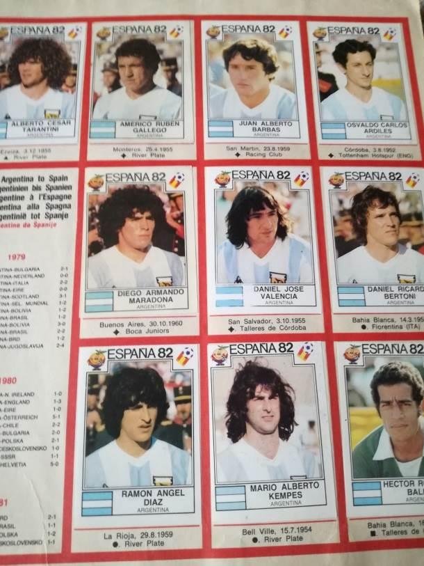 argentina, argentinska reprezentacija, maradona, kempes, svetsko prvenstvo u španiji, mundijal u španiji