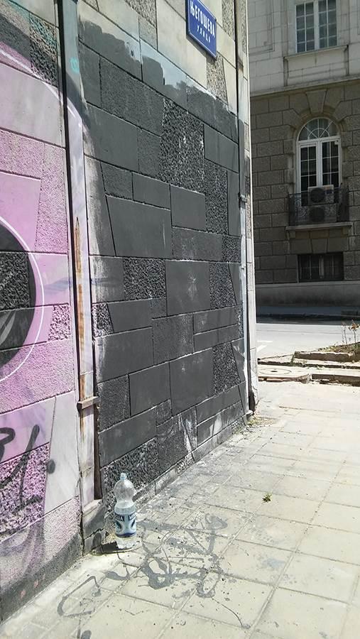 Prekrečen mural legende Partizana (FOTO)