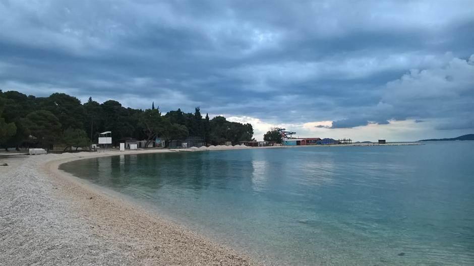 hrvatska, more, plaža, biograd na moru