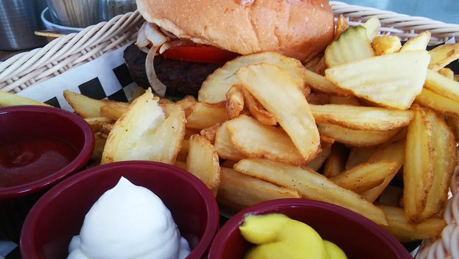 hrana, brza hrana, burger, pomfrit