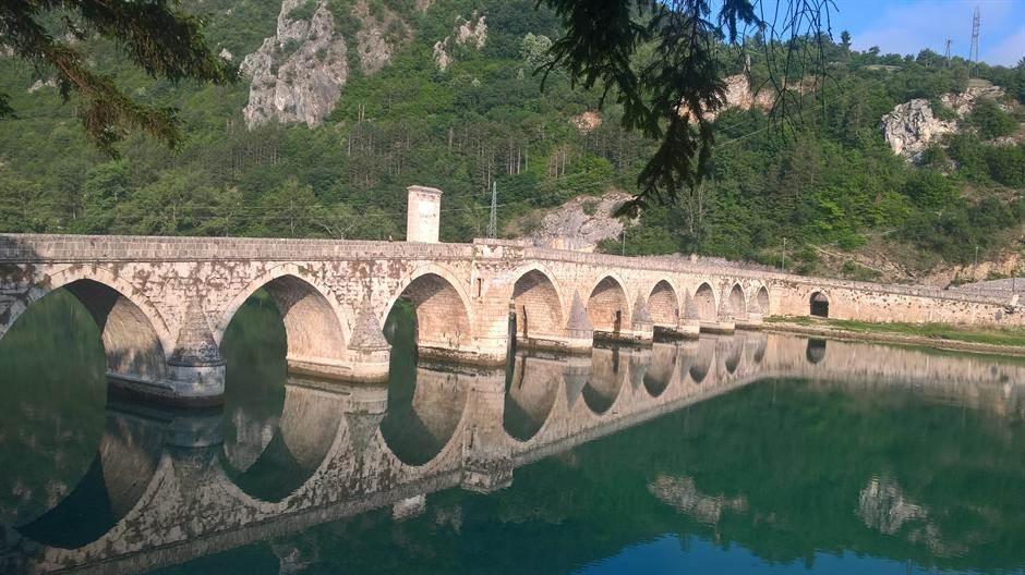 reka, drina, most, ćuprija, višegrad