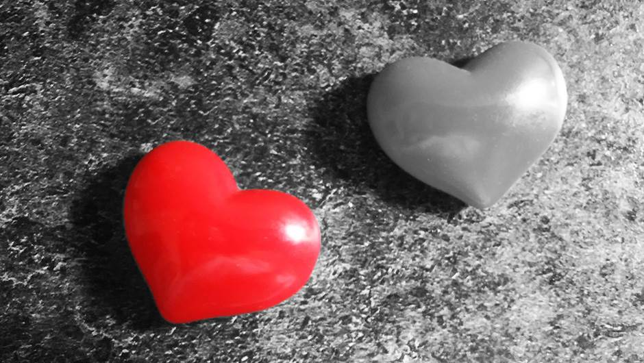 srce, ljubav, raskid