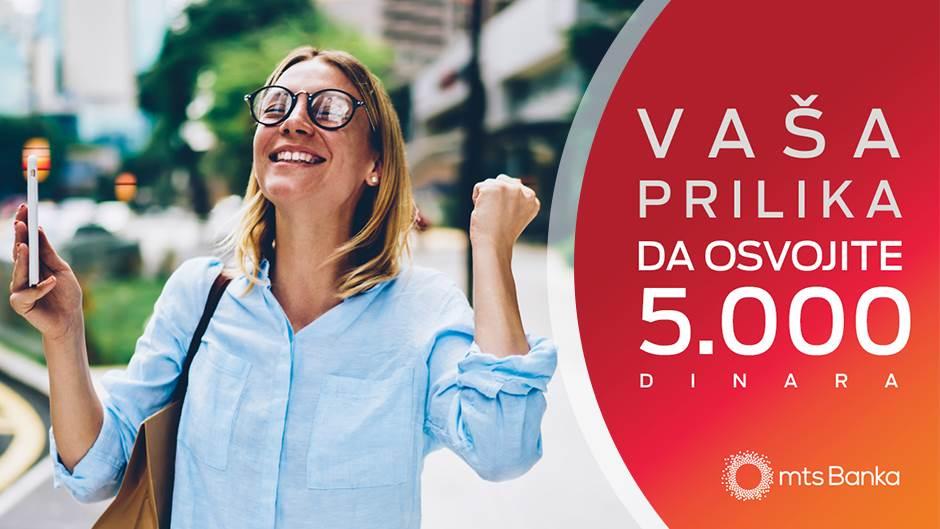 mts Banka nagrađuje vaše poverenje sa 5.000 dinara