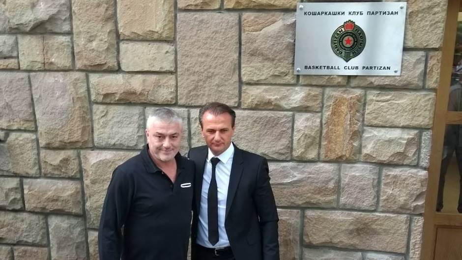 Bivši i sadašnji predsednik KK Partizan Predrag Danilović i Ostoja Mijailović