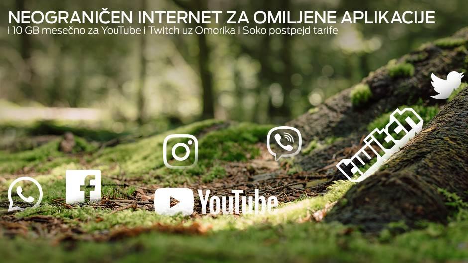 Besplatan, neograničen mobilni net za aplikacije