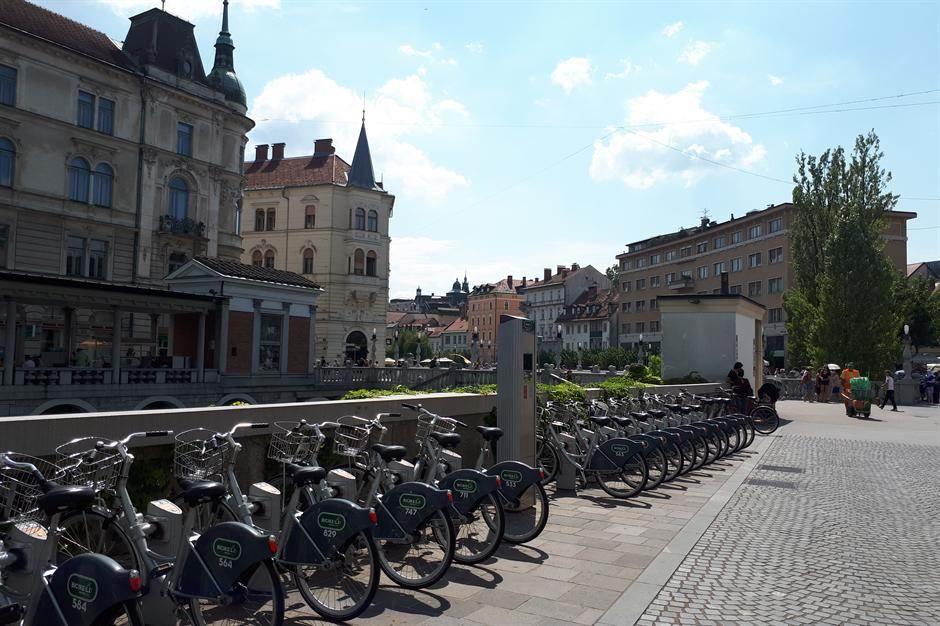 ljubljana, slovenija, bicikli, bicikl