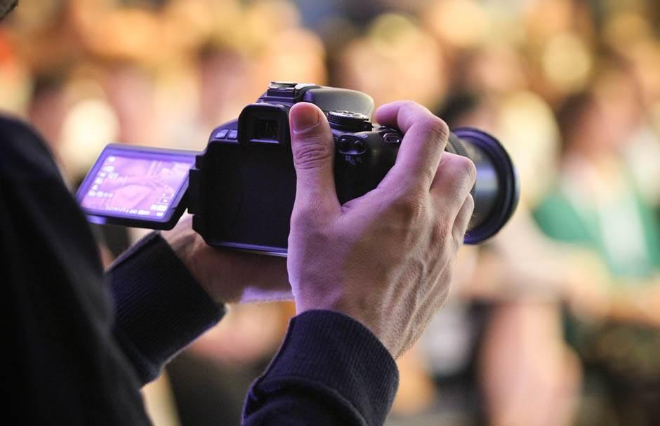 fotoaparat, fotograf, novinar, snimanje,