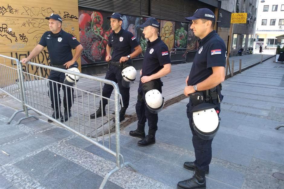 policija, policajci, blokada, blokade, parada