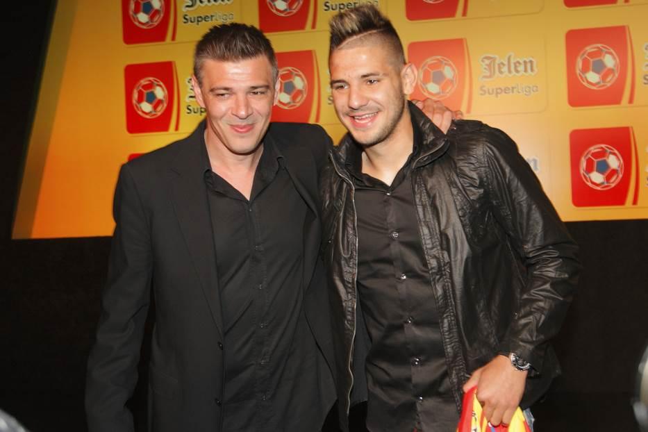 Savo Milošević i Aleksandar Mitrović 2013. godine na dodeli nagrada Superlige.