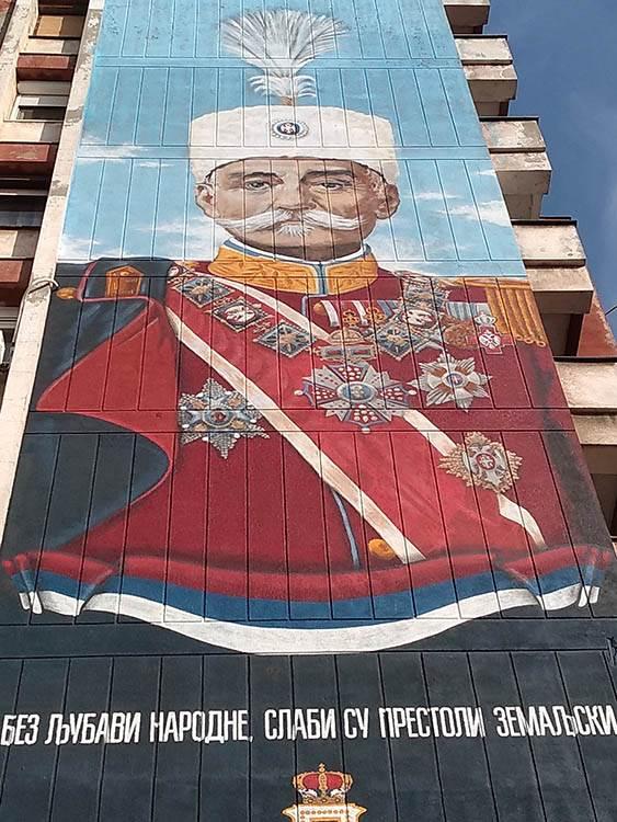 Novi Sad kralju Petru I: Najveći mural u Srbiji