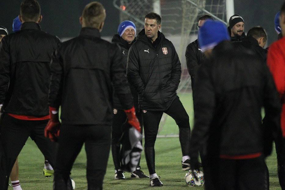 Orlovi, trening, Liga nacija, Srbija