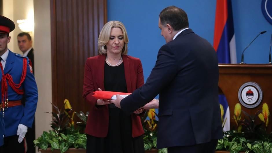 Željka Cvijanović, inauguracija, predsjednik RS, Milorad Dodik