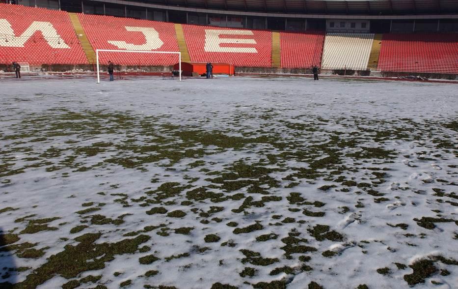 Marakana, sneg, Rajko Mitić, Stadion Zvezde, sneg