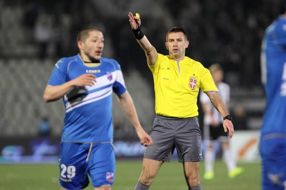 Aleksandar Vasić na utakmici Partizan - Jagodina.