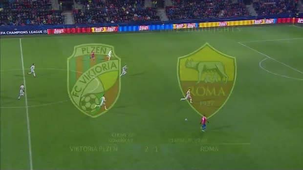 Viktorija Plzenj, Roma, Liga šampiona
