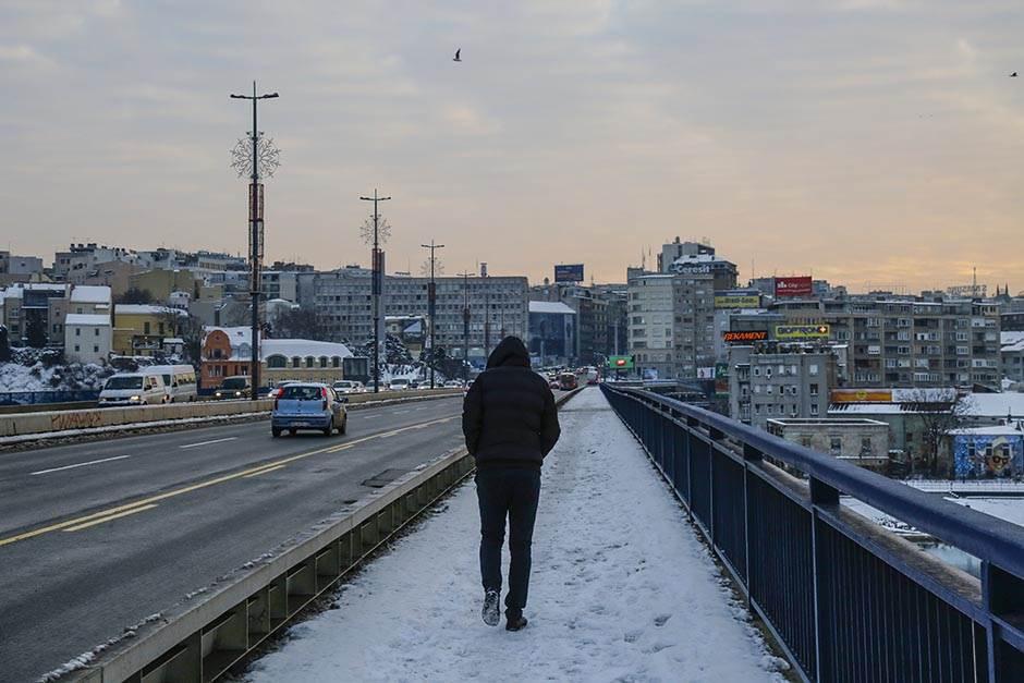 Arktičko jutro u Beogradu