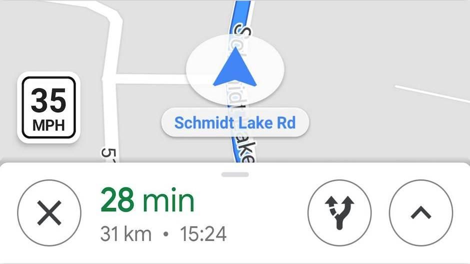 Google Maps nova opcija merenja brzine kretanja, Google Maps upozorenje o brzini kretanja