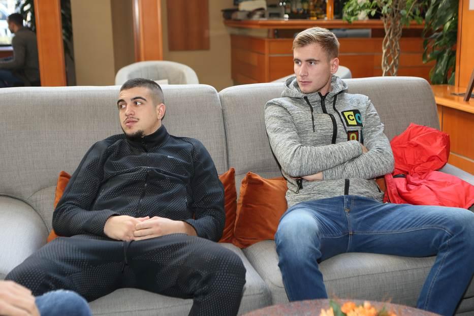 Aleksandar Mesarović i Nikola Gajić na okupljanju mlade reprezentacije.