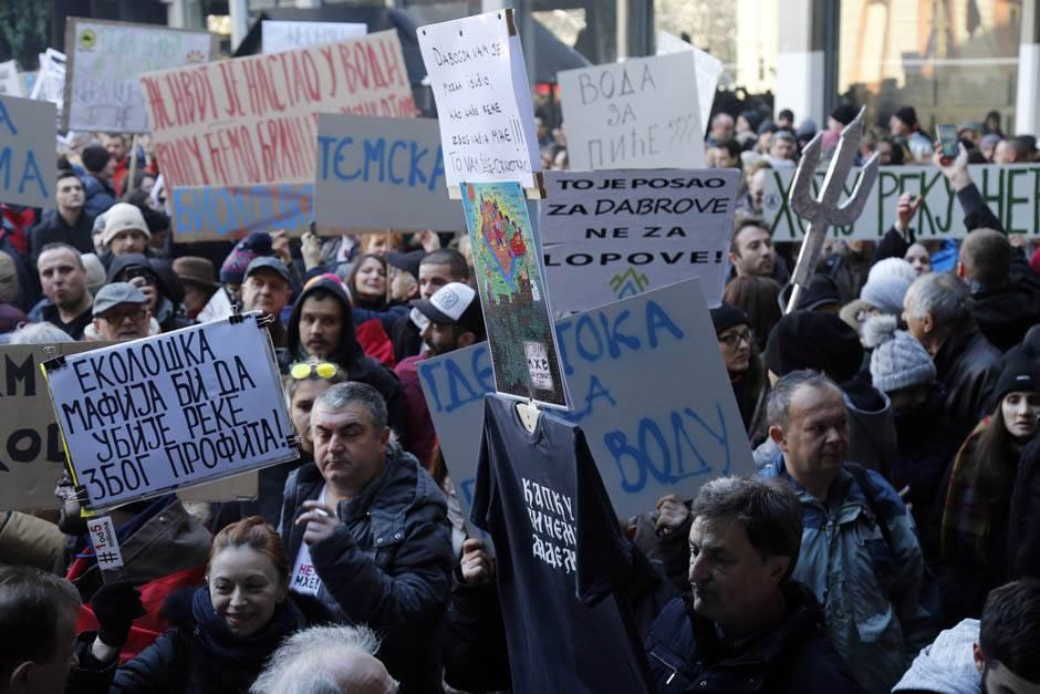 Ekološki protest: Ne damo reke, STOP za MHE! FOTO,VIDEO