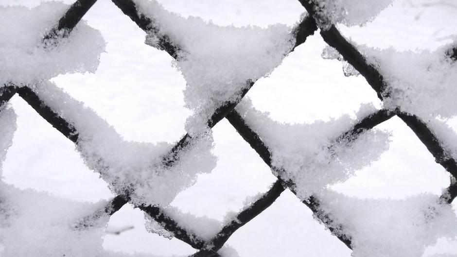 sneg, zima, ograda