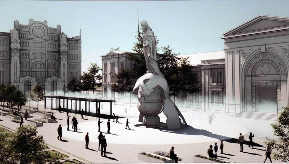Spomenik Stefanu Nemanji pomeren, točak na Ušču