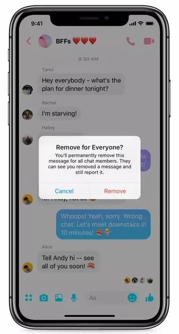 Messenger uveo poništavanje poruka i UNDO (FOTO)
