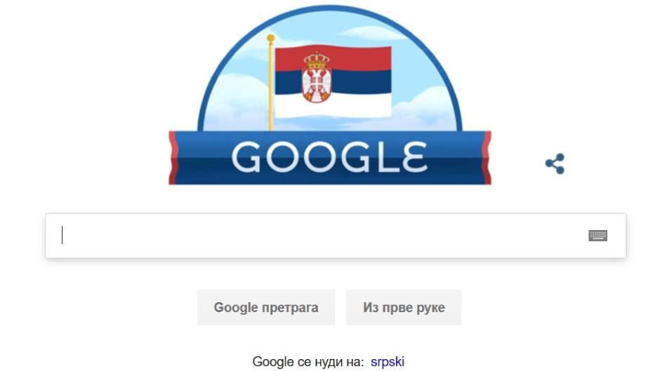 Google razvio srpsku zastavu na internetu