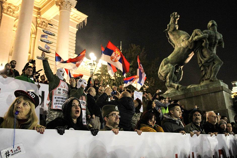Održan još jedan protest opozicije u Beogradu (FOTO)