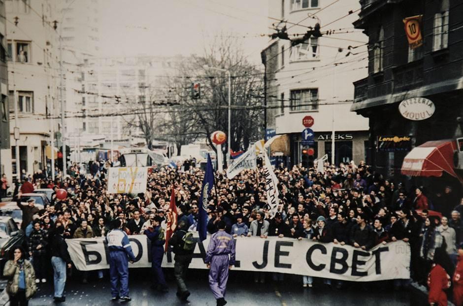 DOS, protesti, beograd je svet, studentski protesti, đinđić