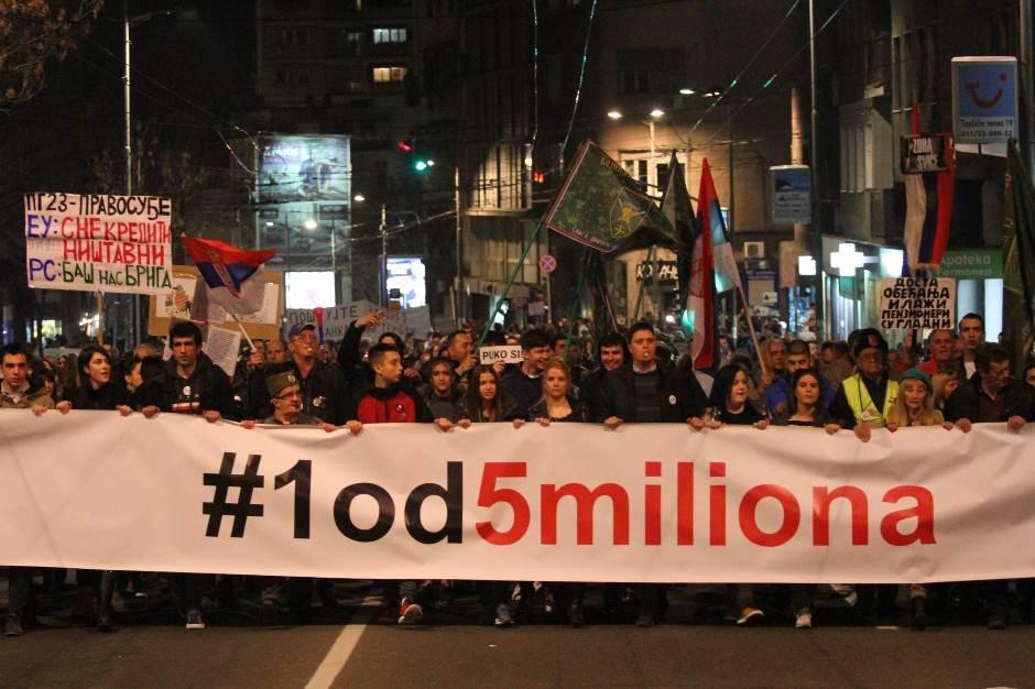 protesti jedan od pet miliona