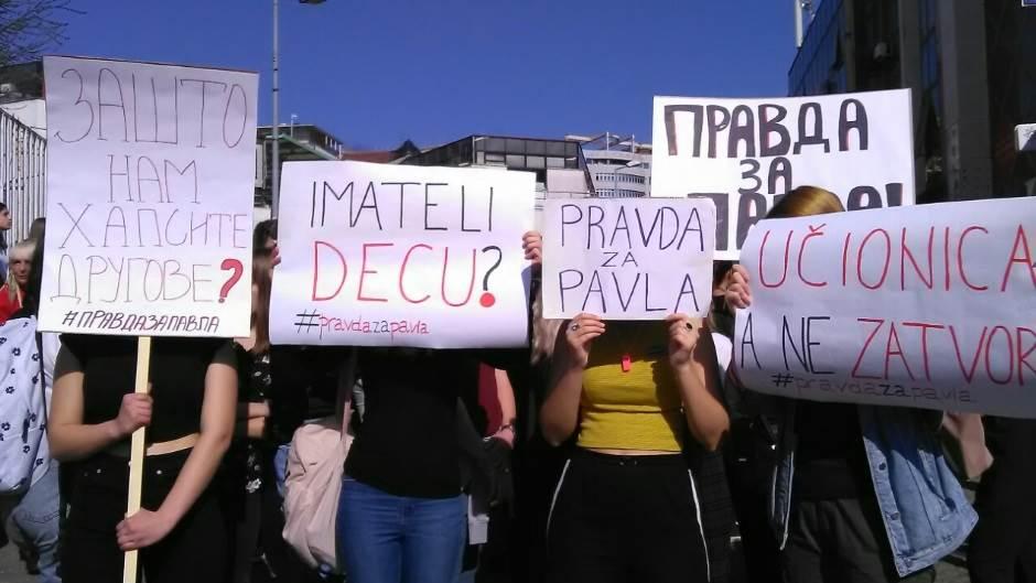 Pavle Cvejić, protest