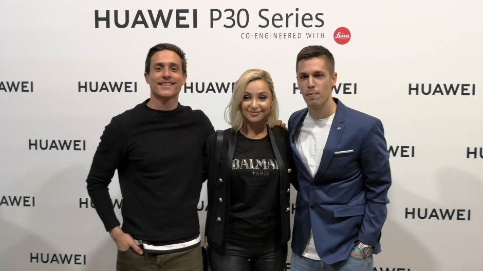 Ambasadori Huawei P30 Pro u Srbiji i regionu: Maja Berović, pevačica, Slaven Došlo, glumac i Dušan Pavlović, fotograf.jpg