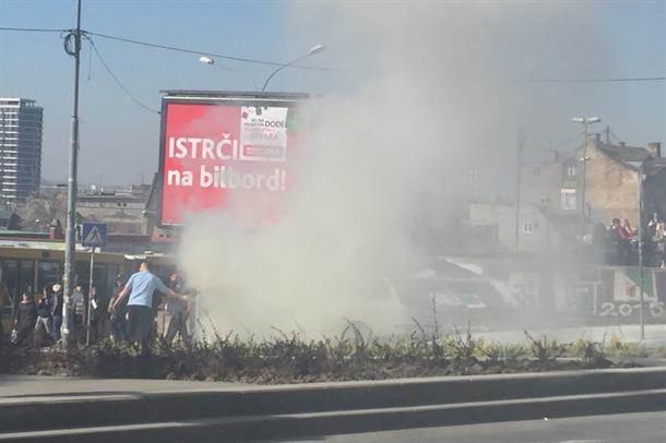 Zapalio se automobil na Zelenom vencu (FOTO)