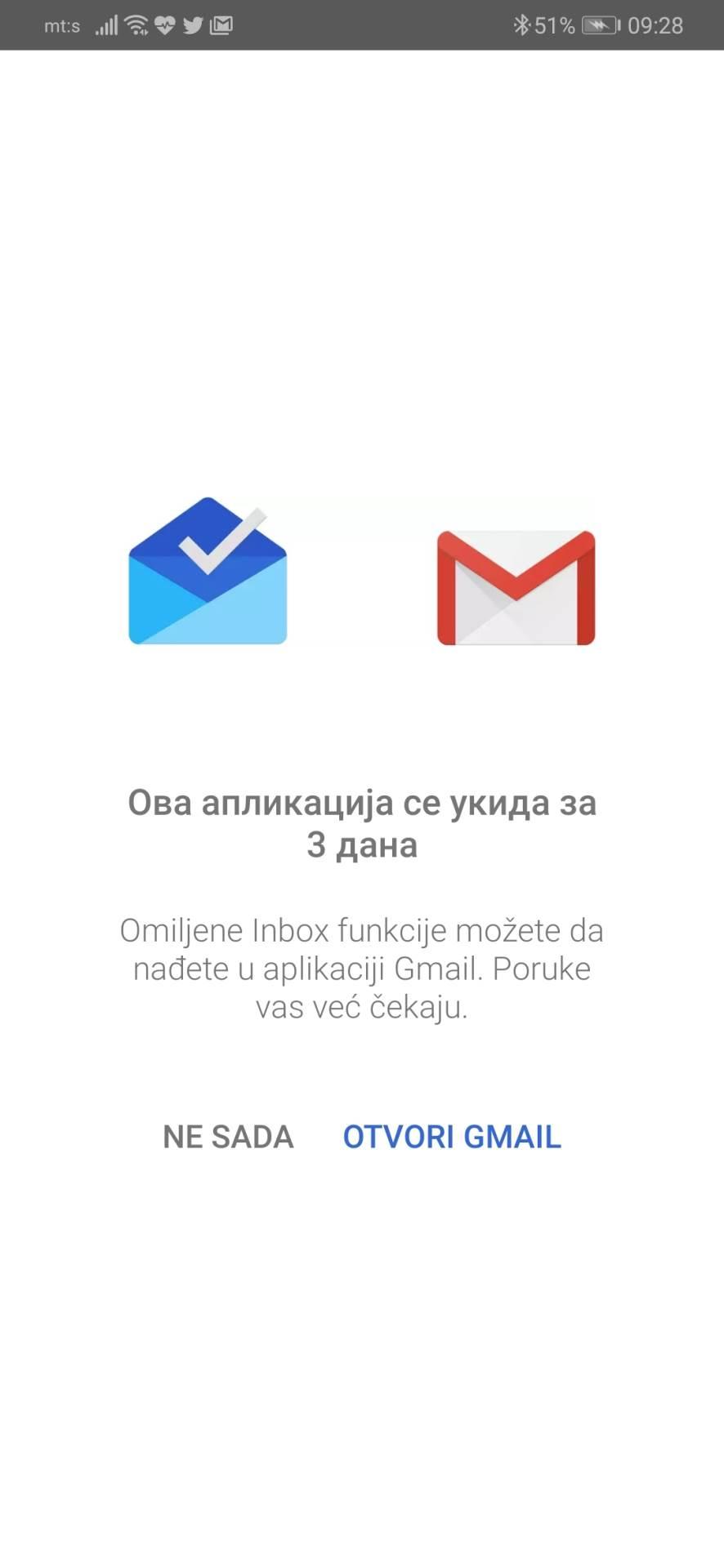 Istina je - Google ukinuo svoju mejl aplikaciju!