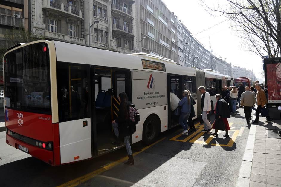 kolarčeva radovi, centar beograda, građevinski, sređivanje, autobus, stanica