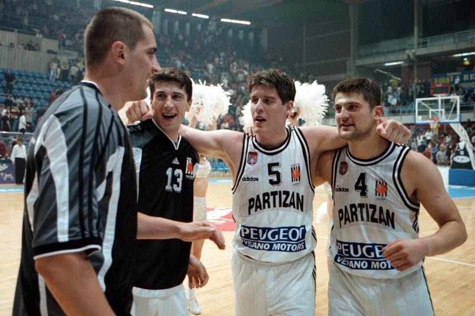 Miroslav Radošević Veselin Petrović Vladimir Đokić KK Partizan
