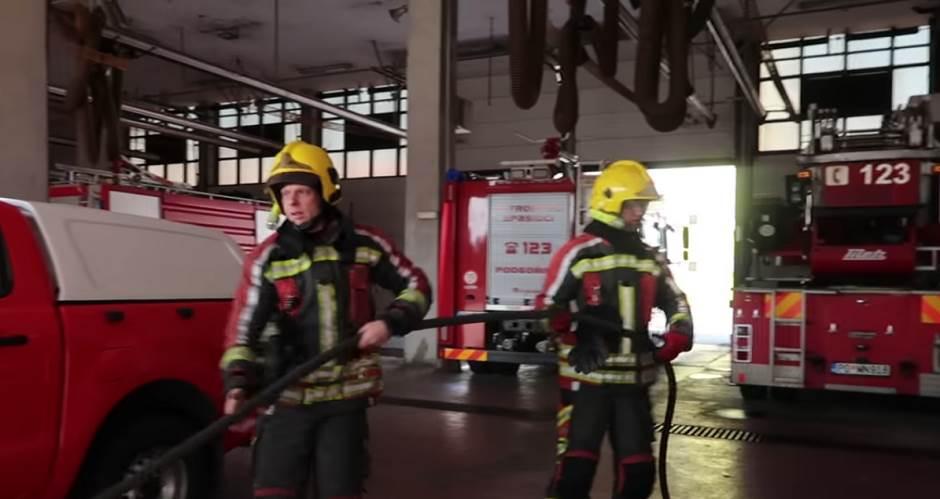 vatrogasci, vatrogasna stanica, požar