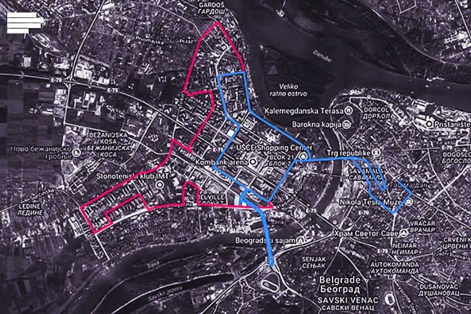 mapa, maraton, ruta