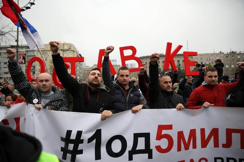 protest opozicije, Skupština