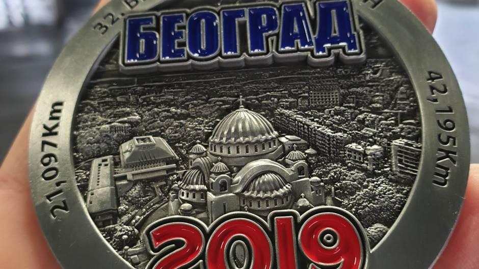 maraton, Beogradski maraton, medalja