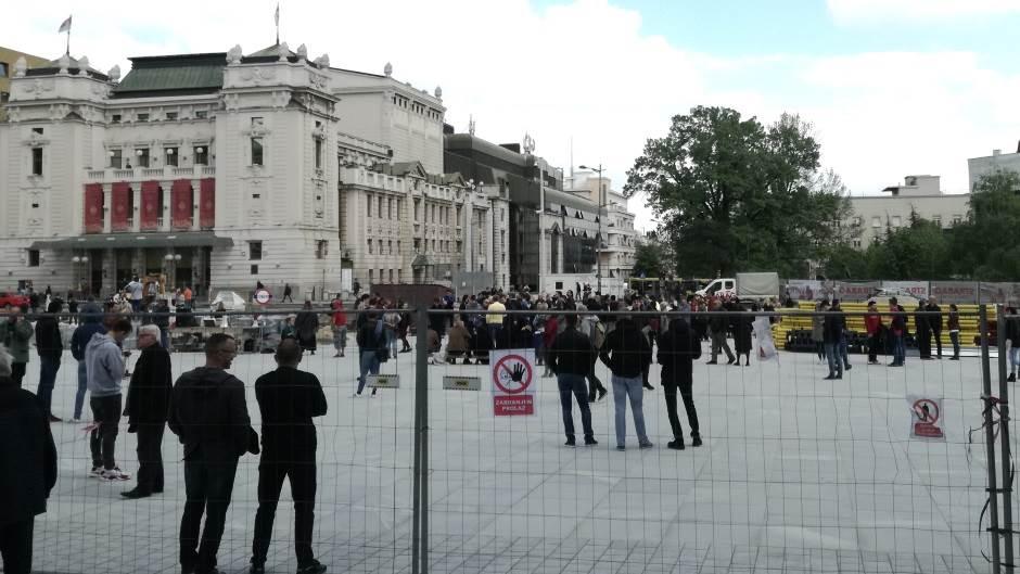 Trg Republike, protest, protest na Trgu republike