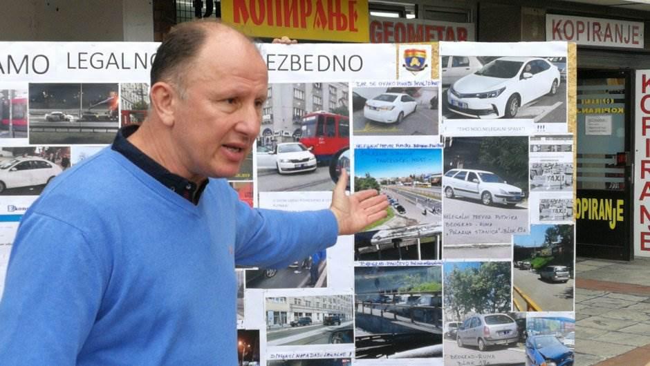 taksi protest, Boško Vukojević