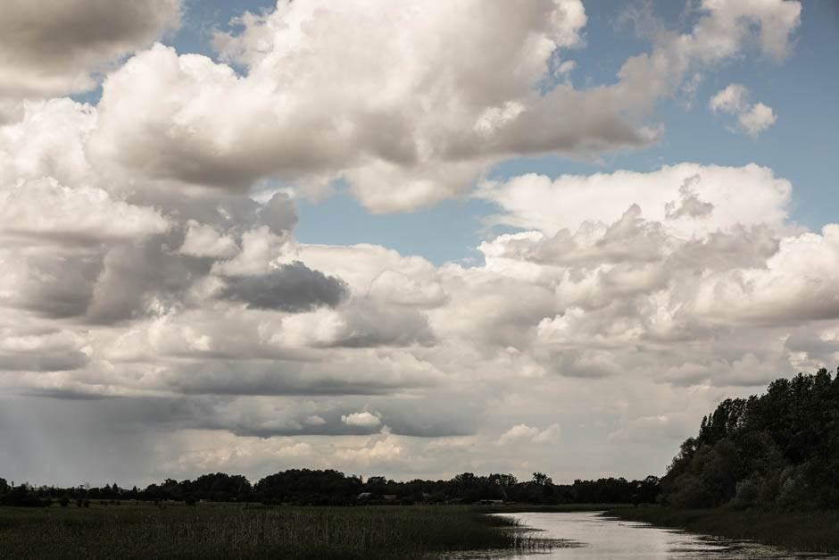 zasavica, priroda, oblaci, oblak, nebo